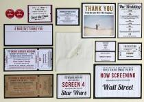 wedding photo - Cinema / Movie / Film / Theatre / Hollywood themed Wedding Stationery Sample Pack