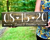 wedding photo - Engagement Photo Save the Date Sign Wedding Date Sign, Elopement Sign, Special Date Sign, Wedding Photo Prop, Engagement Announcement Sign