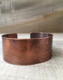 wedding photo - Copper Bracelet - 7th Anniversary Gift for Women - Mandala Boho Jewelry - 22nd Anniversary Gift for Wife