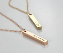wedding photo - Personalized Couple's  Necklace Gift-  Always -Wedding Date - Bridesmaids- Custom Date - Rose Gold / Silver/ Gold Plated