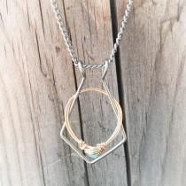 wedding photo - Silver Diamond Magic ring holder necklace , necklace to hold wedding ring , necklace for engagement ring, ring holder necklace
