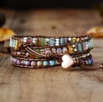 wedding photo - Rhodochrosite Bracelet-Natural Healing Stone Bracelet-Spiritual Meditation Yoga Bead Mental Health Negative Energy Heart Protection Bracelet