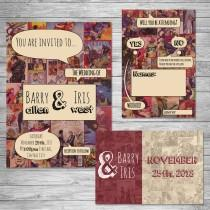 wedding photo - Comic Book Wedding Invitation Set ~Digital~