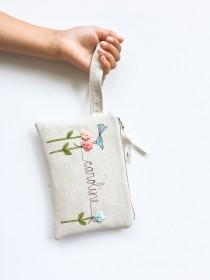 wedding photo - Flower Girl Proposal, Flower Girl Gift, Wristlet, Will You Be My Flower Girl, Personalized Girl Gifts, Purse, Floral, Wedding