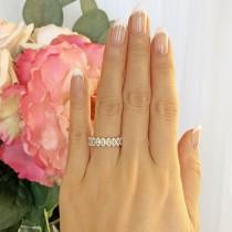 wedding photo - 4 ctw Oval Cut Full Eternity Ring Wedding Band, Engagement Ring, Man Made Diamond Simulants, Bridal Ring, Stacking Band, Sterling Silver