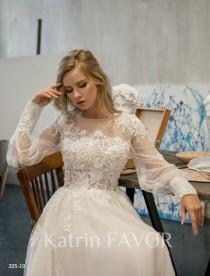 wedding photo - Long Sleeve Wedding Dress Tulle Wedding Dress Rustic Wedding Dress Lace Wedding Dress Beaded  Bohemian Wedding Dress A Line Wedding Gown