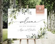 wedding photo - REESE - Large Wedding Welcome Sign, Custom Wedding Sign, Welcome Sign Wedding, Welcome Sign, Boho Welcome Sign, Wedding welcome signage