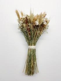 wedding photo - Fall Wedding Bouquet, Dried Flowers, Fall Bouquet,  preserved flowers, Rustic Bouquet, Ammobium, bunny tails, ammonium, red broom corn