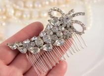 wedding photo - OOAK Vintage Bridal Hair Comb, Antique Headpiece, Crystal Wedding Comb, Great Gatsby Headpiece, Antique Bridal Comb, Wedding Hair Piece