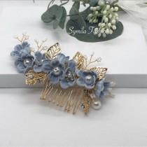wedding photo - Bridal Hair Piece, Something Blue For Bride, Wedding Hair Piece, Something Blue Hair Comb, Hair Comb, Bridal Hair Comb, Wedding Hair Comb