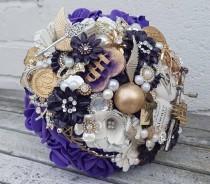 wedding photo - Musical wizard inspired Magical  bouquet, with hand crank music, any colour, alternative, brooch bouquet, whimsical bouquet,  flower wedding