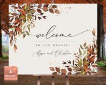 wedding photo - SIENNA - Large Fall Wedding Welcome Sign, Custom Fall Wedding Sign, Porch Fall Welcome Sign, Fall Welcome Sign, Boho Fall Welcome Sign
