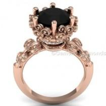 wedding photo - Buy Cheap Price Vintage Style Black Diamond Engagement Ring