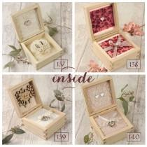 wedding photo - Ring Pillow Wedding Ringbox Heart Wedding Ringbox Heart Ring Pillow Ring Bearer Pillow Individual Personalized Rings Box with Engraving :)