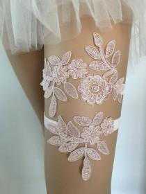 wedding photo - Blush garter set Lace garters for wedding garter belt garter set bridal toss garter lace garter charm Pink garter bride garters wedding belt