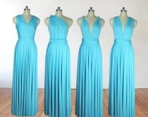 wedding photo - Turquoise bridesmaid dress infinity dress long bridesmaid dress bridesmaids dresses long dress convertible dress maternity gown party dress