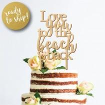 wedding photo - Beach Topper, Rustic Wedding Decor, Laser Cut Wedding Decor, Personalized Wedding Accessories