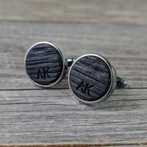 wedding photo - Groomsmen Cufflinks Crafted from a Bourbon Barrel / Personalized Groomsmen Gifts / Custom Cufflinks / Groomsmen Gift / Personalized Gift