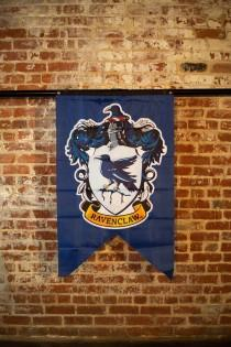 wedding photo - Harry Potter House Banner, Hogwarts Castle, Gryffindor, Slytherin, Hufflepuff, Ravenclaw, Harry Potter Party