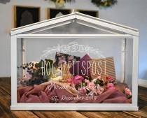wedding photo - Wedding Box - Greenhouse for money gifts and cards for wedding, personalized.