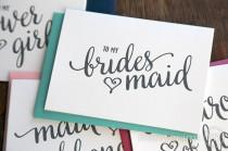 wedding photo - To My Bridesmaid Bridal Party Wedding Thank You Cards - Thank You Bridesmaid Card, Man of Honor, Maid of Honor, Matron, Flower Girl - CS15