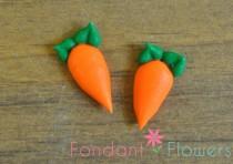 wedding photo - 60 Medium Royal Icing Carrots - Gumpaste Cupcake Cake Topper