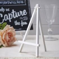 wedding photo - Large White Wooden Easel, Wedding Decorations, Table centre pieces, Wedding Table Numbers, Party Table Numbers