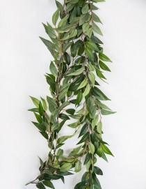 wedding photo - Artificial Ruscus Leaf Garland 6ft Long Wedding Greenery Garland Wedding Decor
