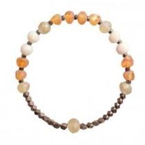 wedding photo - Raw Baltic Amber Beads Bracelet