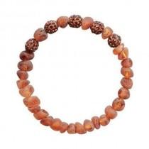 wedding photo - Shamballa Beads Baltic Amber Bracelet