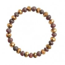 wedding photo - Raw Baltic amber Bracelet with Brown Cherry Color Beads