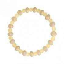 wedding photo - Baltic amber bracelet Yellow Lemon Amber beads for women girls