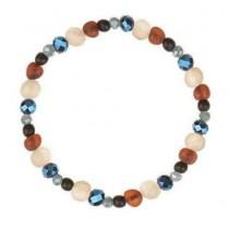 wedding photo - Handmade Raw Amber Bracelet with Glass Black stone Beads