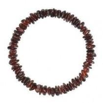 wedding photo - Chips amber beads Bracelet