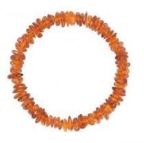 wedding photo - Cognac Chips Amber bracelet