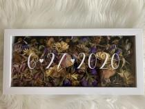 wedding photo - Wedding Flowers Shadow Box date only