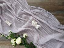 wedding photo - Vintage lavender wedding color centerpiece Gauze table runner wedding cheesecloth runner dyed cheesecloth event centerpiece runner napkins