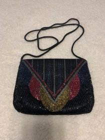wedding photo - Vintage 1980s beaded purse