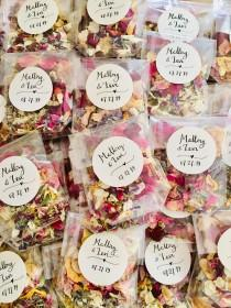 wedding photo - Biodegradable confetti, Wedding confetti, Petal Confetti, Flower confetti, Eco friendly confetti, Petal toss bags, Confetti packets/10 packs
