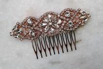 wedding photo - Crystal Hair Comb, Bridal Hair Clip, Wedding Hair Ideas, Comb for Hair, Bridal Hair Accessories, Wedding Hair Pieces, Rose Gold Hair Combs