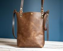 wedding photo - Made in USA Classic Leather Tote Bag