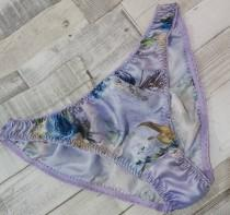 wedding photo - silk satin  mint or lavender floral pantie , knicker ,lingerie, gift , valentines , for her, him , handmade,cute lingerie ,floral