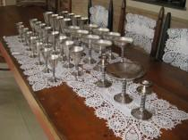 wedding photo - REDUCED AGAIN !   Vintage  8 place setting  of Spanish Silver  including candle sticks and candy dish