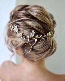 wedding photo - Bridal hair vine  Bridal hair accessories Blue Opal Bridal hair vine Wedding hair piece Wedding hair Accessories Wedding hair vine