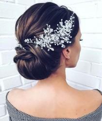 wedding photo - Crystal Bridal hair piece Wedding hair piece Wedding Hair Accessories  Bridal Hair Accessories Crystal Bridal Hair vine Bridal Hair jewelry