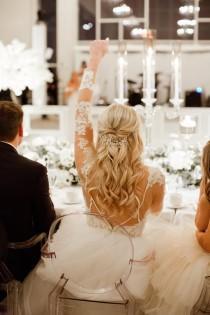 wedding photo - Bridal hair piece Bridal hair vine Silver Bridal headpiece Wedding Hair Accessories Silver Wedding hair piece Silver Bridal hair vine