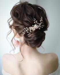 wedding photo - Crystal Wedding Hair Comb Pearl Bridal Hair Comb  Bridal Hair Accessories Pearl Hair Comb Bridal Hair Piece Wedding Hair Accessories