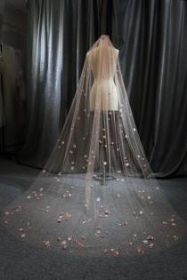 wedding photo - Ls67/glitter veil/sparkle veil/ flower veil/chapel veil/custom veil