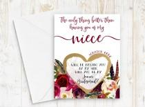 wedding photo - Junior Bridesmaid Proposal for Niece - Scratch off junior bridesmaid card - Only thing better than having you - will you be my jr bridesmaid