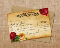 "wedding photo - Wedding party invitation ""Sophie"""
